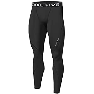 JustOneStyle Men Winter Warm Thermal Skin Tights Compression Base Under Layer Long Pants White