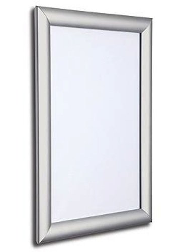 SECO Front Load Easy Open Snap Poster Frame/ Picture Frame 11 x 17 Inches, Silver Metal Frame (SN1117)