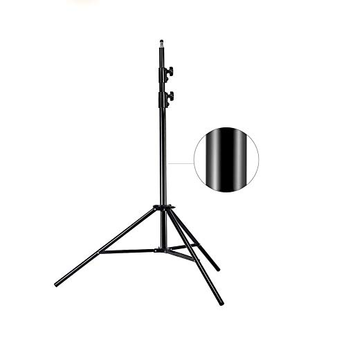 MOUNTDOG Update 78inch/6.5 Ft/200CM Photography Tripod Light Stand for Photo Studio Reflector Softbox Light Umbrella Background Video Lighting Studio Mono Light Studio Kits Aluminum Alloy-6.5ftX1 ()