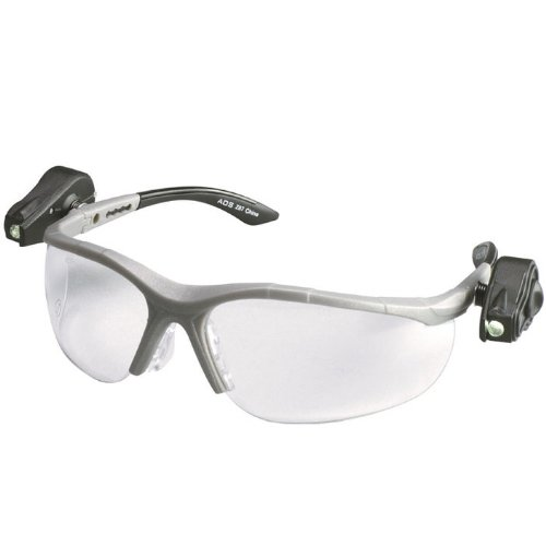 (3M (Formerly Aearo) 11479-00000 Light Vision 2 Readers 2.5 Diopter Safety Glasses with Gray Frame, Clear Polycarbonate Anti-Fog Lens, Dual LED Lights, Microfiber Bag and Lanyard, 1