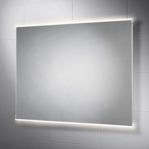 Pebble Grey 28 x 36 Inch Bathroom Vanity Mirror with LED Illuminated -