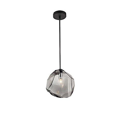Lovedima Stone 1-Light Mini Colorful Glass Pendant Light (Gray) ()
