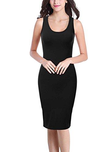 long black lycra dress - 4