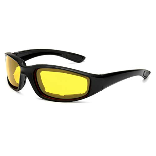 - YunZyun Cycling Glasses Anti-Glare Motorcycle Cycling Glasses Polarized Night Driving Lens Glasses Sunglasses for Outdoor Cycling Sport (Yellow)