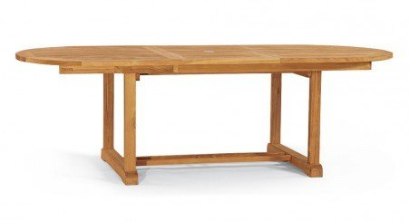 Tavolo ovale in teak allungabile amazon giardino e