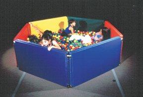 Sensory Ball Environment 4 panels, 2,500 large balls 4' x 4' by Eif
