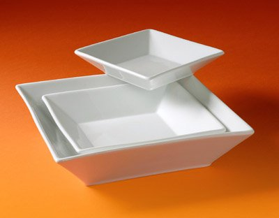 Pillivuyt Quartet 1.75 quart Square Bowl; White