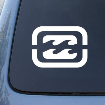 Billabong car truck notebook vinyl decal sticker 2370 vinyl color white
