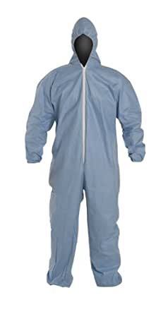 DuPont Proshield 6 SFR TM127S Secondary Flame Resistant Coverall with Attached Hood, 2X, Blue (Case of 25)