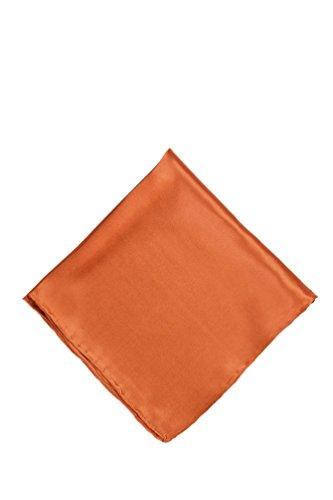 Burnt Orange Burnt Orange Silk Pocket Square