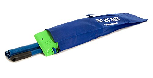 Big Rig Rake  Reaches 16 Feet High - Wide Snow Rake with Angled Pole For Clearing Trucks, Trailers, RV's and Other Flat Roofs