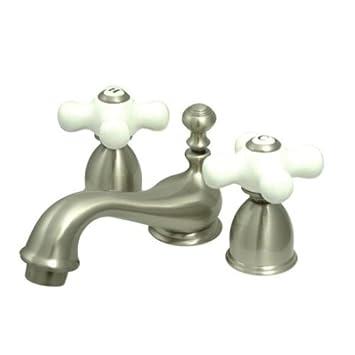 Kingston Brass KS3958PX Restoration Mini Widespread Lavatory Faucet ...