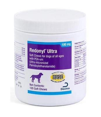 Redonyl Ultra 100mg Hypoallergenic with Pea-um for All Dogs 120 Soft Chews by Redonyl Ultra