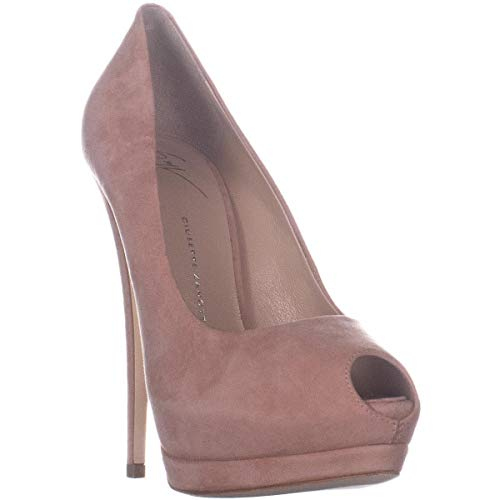 - GIUSEPPE ZANOTTI Sharon Peep Toe Platform Heels, Candy, 8 US / 38 EU