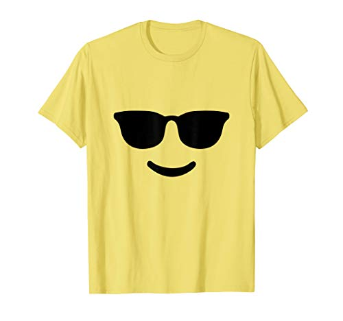 Cute Cool Emoji Face Halloween Costume T-Shirt
