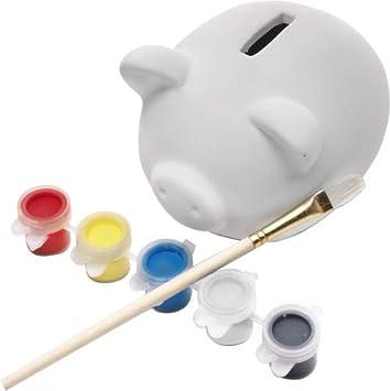 Home Fun Line® - Hucha Infantil Cerdito para Pintar y ...