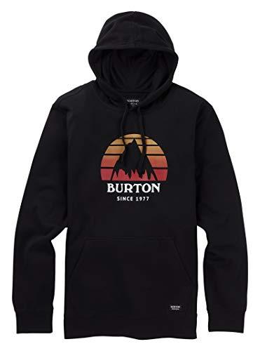 Pullover Burton Cotton - Burton Men's Underhill Pullover Hoodie, True Black SS19, Medium