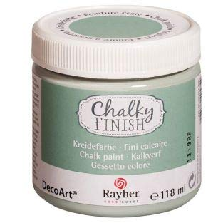 Rayher 38867408 Chalky Finish Paint for a Shabby Chic Look, Furniture Paint with a Chalk Paint Finish 118ml, Mint Green