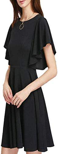 Flutter Sleeves Party Black Dress