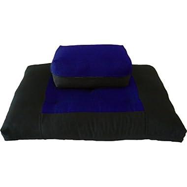 Brand New Zabuton Zafu Set, Yoga, Meditation Seat Cushions, Kneeling, Sitting, Supporting Exercise Pratice Zabuton & Zafu Cushions. (Royal)