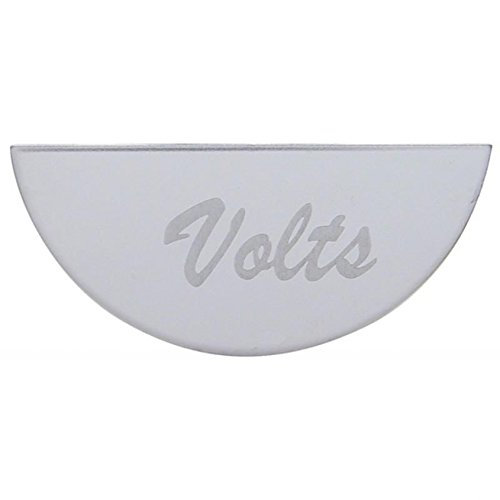 801 Chrome Stainless Steel Dash Accent Instrument Panel Volts Gauge Emblem for Peterbilt