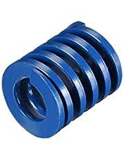 uxcell® 22mm OD 25mm Long Spiral Stamping Light Load Compression Mould Die Spring Blue 1Pcs