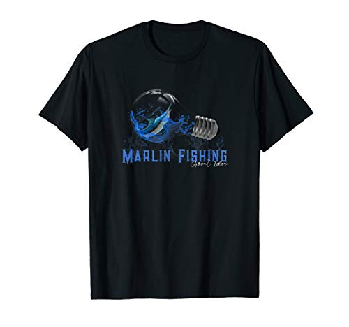 Blue Marlin Deep Sea Fishing T Shirt