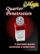 Quarter Penetration From Royal Magic - The Visible Penetration of One Solid Through Another.