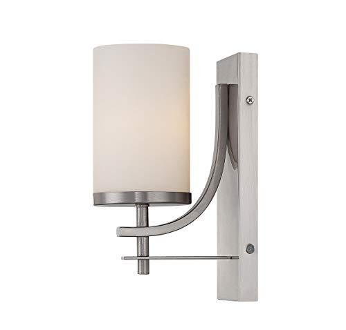 (Savoy House 9-337-1-SN Colton Wall Sconce in Satin Nickel)