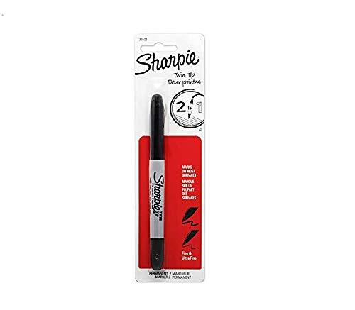- Sharpie Twin Tip Permanent Marke Fine Point Ultra Fine Point Black