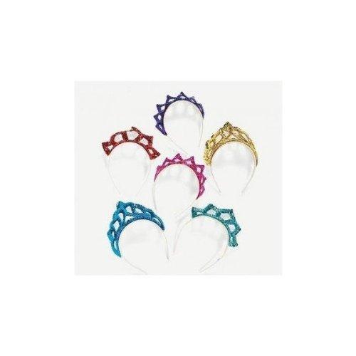 Sequin Princess Tiara Headbands (1 dz) - Edge Tiara