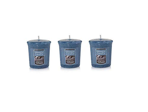 Yankee Candles Set of 3 Warm Luxe Cashmere Samplers Votive Candles