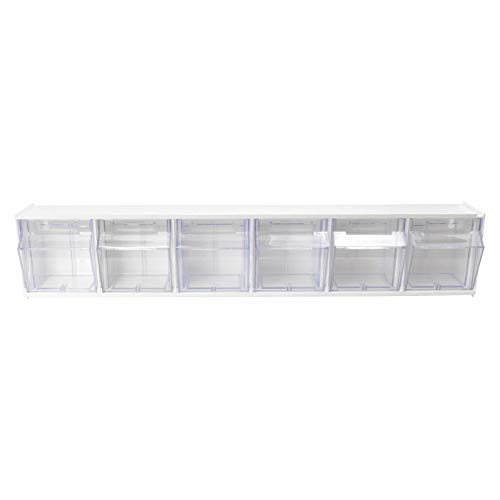 (Deflecto Interlocking Tilt Bin Organizers, Six Bin (20603CR))