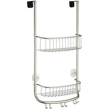 Amazon.com: InterDesign Forma Over Door Shower Caddy – Bathroom ...