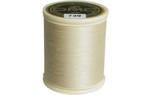 - DMC 237A-50739 Cotton Embroidery Thread 50WT 547Yds Ultra Very Light Tan
