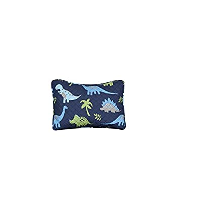 MB Home Collection Twin Size 6 pieces Printed Blue Lime green Design Comforter, Sheet Set with 1 Pillow Cushion Toy # Twin Size 6 Pcs Comforter Blue Dinosaur: Home & Kitchen
