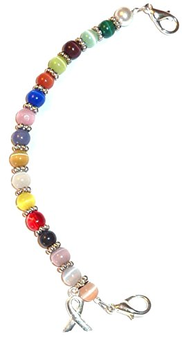 Multi Cancer awareness women's Medical Alert ID Interchangeable Replacement Bracelet by Hidden Hollow Beads