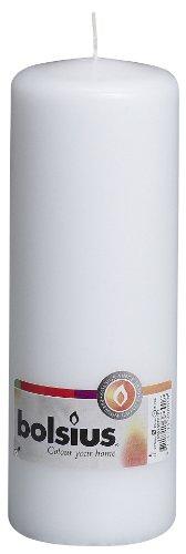 Bolsius Stumpenkerze für drinnen und draußen, 200x70mm, weiß
