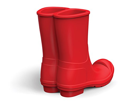 - Fred 5216342 REBOOT Silicone Rain Boots Mobile Phone Stand, Red