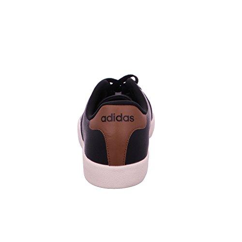 adidas Vlcourt Vulc, Scarpe da Ginnastica Uomo, Nero (Negbas/Negbas/Madera), 39 EU