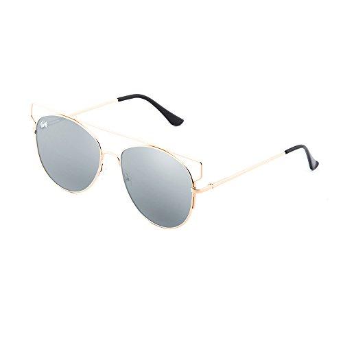 Bronce mujer espejo TWIG de degradadas sol TZARA Plata Gafas Y0HS1