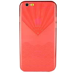YULIN Fan-Shaped Clamshell TPU Full Body Cases for iPhone 6 Plus(Assorted Color) , Pink