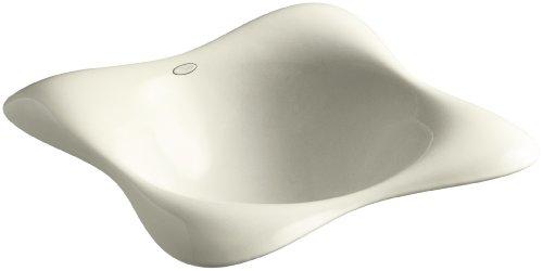 KOHLER K-2815-P5-FD Dolce Vita Vessels Bathroom Sink with Black Iron Underside, Cane Sugar