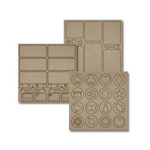 Biggest Board 12x12 Chipboard Sheets, 3/Pkg: Mix-N-Match
