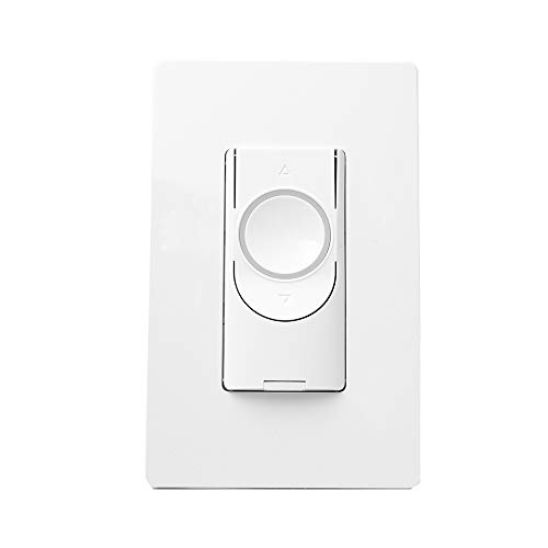 GE Lighting 48717 Smart Switch Dimmer, Wi-Fi, Works with Alexa/Google Assistant Without Hub, Single-Pole/3-Way Replacement C by GE On/Off Paddle, White