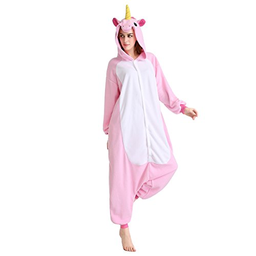 Halloween Costumes Unisex Kigurumi Onesie Cosplay Costumes Unicorn (S, pink flying horse)