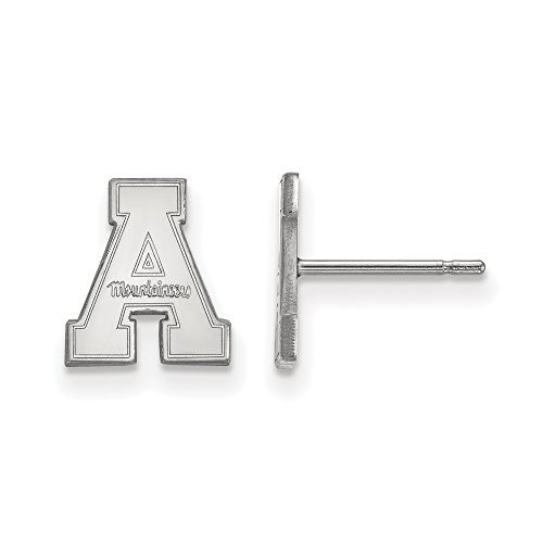 Appalachian State Extra Small (3/8 Inch) Post Earrings (14k White Gold) by LogoArt