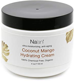 Nalani Luxury Coconut Mango Hydrating Cream - Organic, Chemical Free, Made in US, 6oz