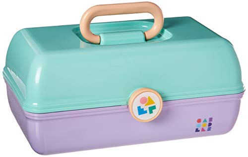 Caboodles On-the-Go Girl Sea foam Lid and Lavender Base Vintage Case, 1 Pound (Case Makeup Caboodles)
