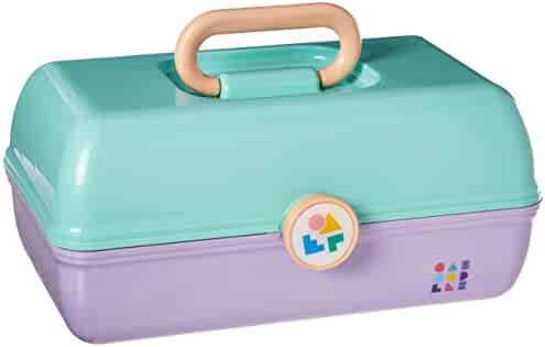 Caboodles On-the-Go Girl Sea foam Lid and Lavender Base Vintage Case, 1 Pound
